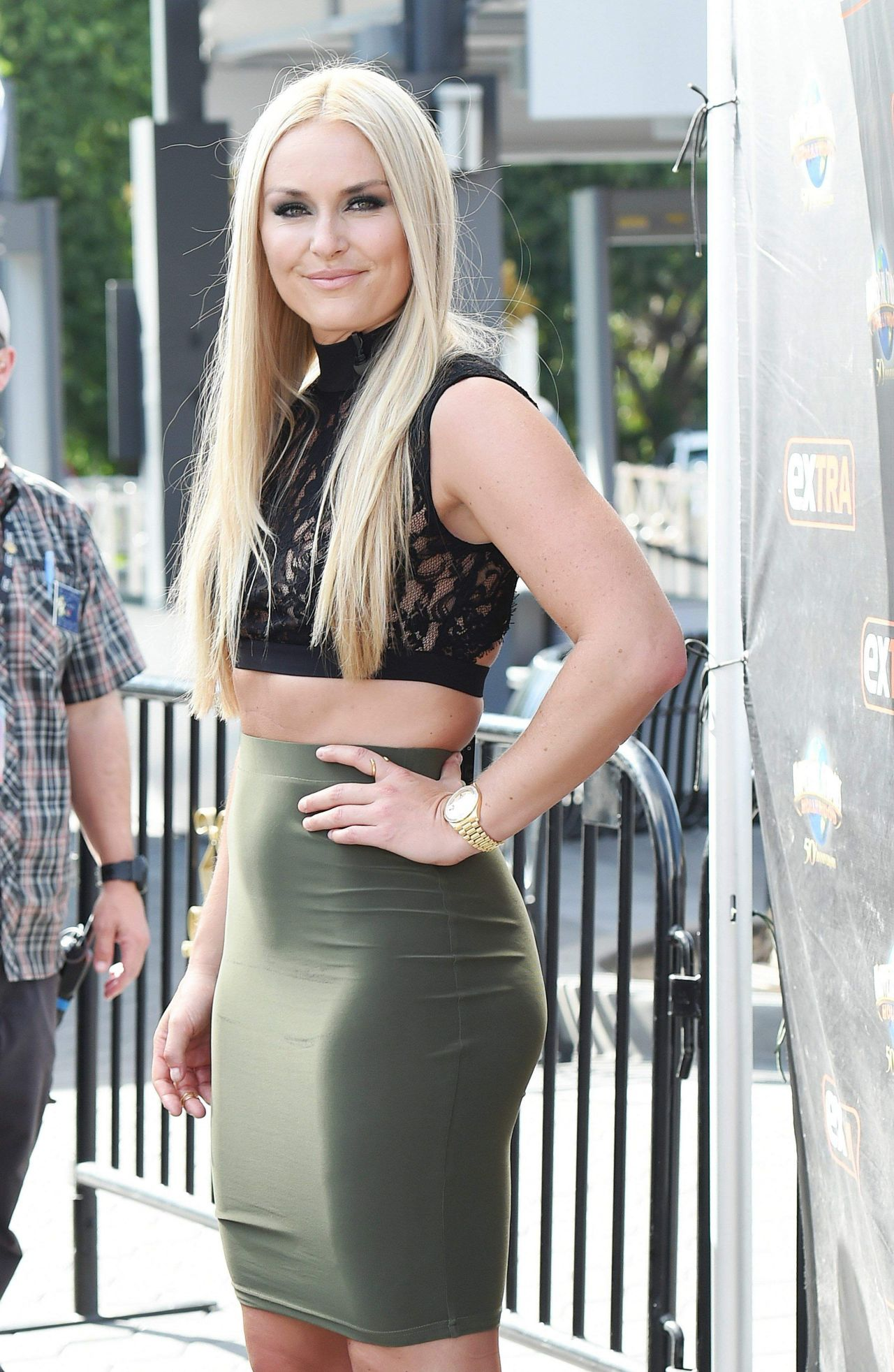 Lindsey Vonn On Set Of Extra In Los Angeles 10 10 2016