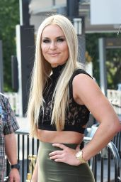 Lindsey Vonn - On Set of Extra in Los Angeles 10/10/2016