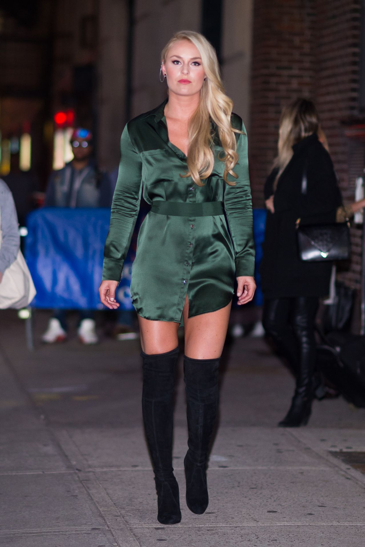 Lindsey Vonn Short Dress and Hooker Boots