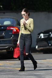Lucy Hale - Stops by Starbucks in Los Angeles 10/8/2016