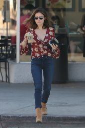 Lucy Hale - Stops By Starbucks in Studio City 10/10/2016