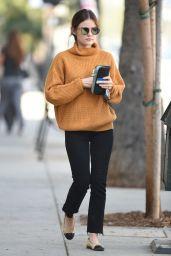Lucy Hale Street Style - Stops by a Starbucks in LA 10/13/2016