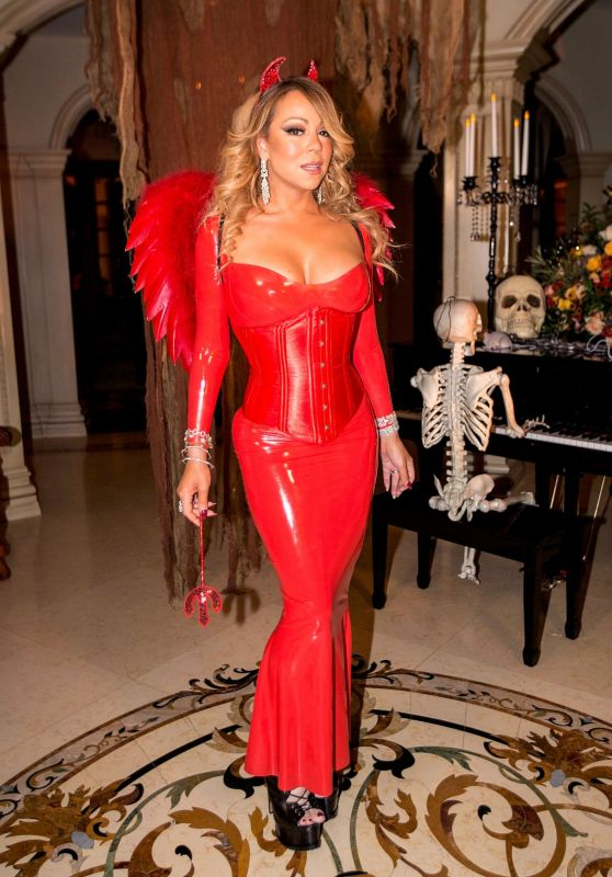 Mariah Carey at Her Halloween Party in Los Angeles 10/23/ 2016