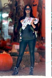 Megan Fox at a Pumpkin Patch in Malibu 10/15/ 2016