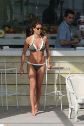 Melanie Sykes in Bikini in Ibiza by Her Hotel Pool 10/17/2016