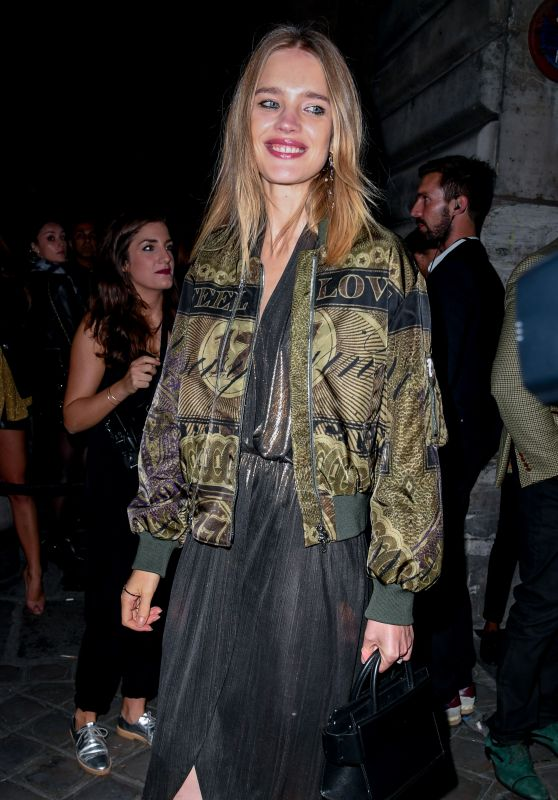 Natalia Vodianova Arriving at the L'Oreal Gold Obsession Party in Paris 10/2/2016