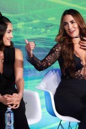 Nikki Bella & Brie Bella at Advertising Week in New York City, September 2016