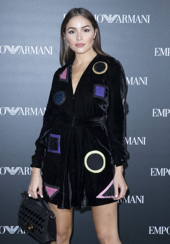 Olivia Culpo at Emporio Armani Show - Paris Fashion Week 10/3/2016