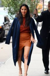 Olivia Munn in Mini Dress - Outside of Her Tribeca Hotel in NYC, September 2016