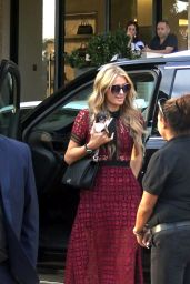 Paris Hilton is all Smiles as she Arrives at Barneys NY in Beverly Hills 10/26/ 2016
