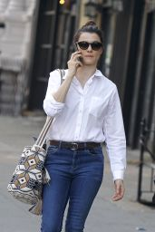 Rachel Weisz in Jeans - Walking in Soho in New York City 10/18/2016