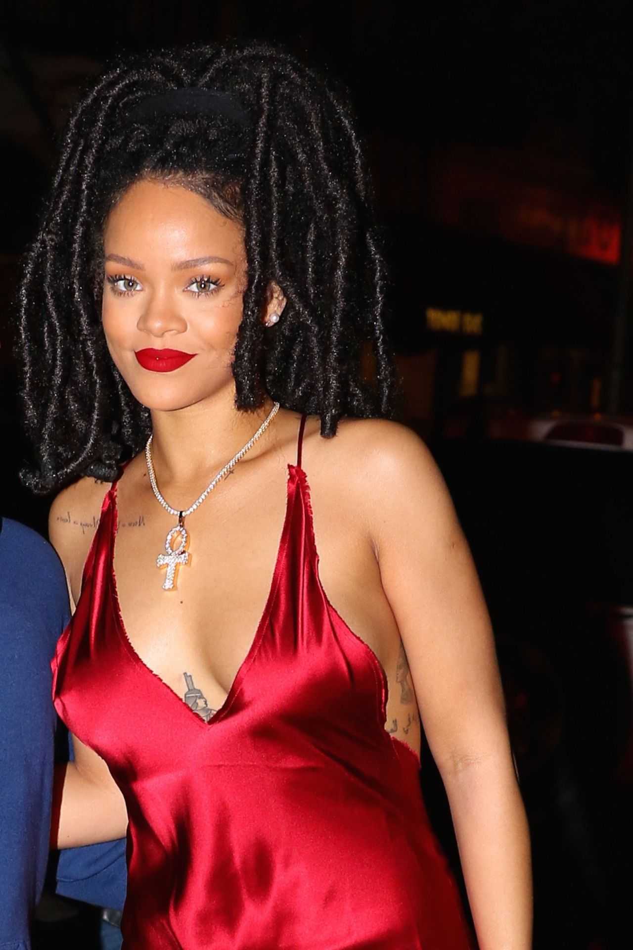 Rihanna Night Out Style - Arriving at Carbone Restaurant ... Rihanna 2016