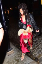 Rihanna Style - Leaving Carbone Italian Restaurant in NYC 10/6/2016