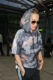 Rita Ora - Flies Into Heathrow Airport From Rome 10/6/2016