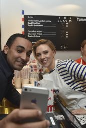 Scarlett Johansson at Opening of Yummy Pop Store in Paris - 10/22/2016