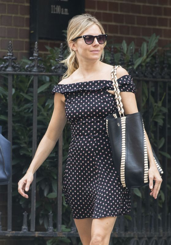 Sienna Miller Chic Street Style - Out in New York City 10/17/ 2016