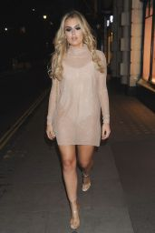 Tallia Storm Night Out Style - Tramp Nightclub, London, UK 10/19/ 2016