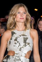 Toni Garrn Arriving at the L'Oreal Gold Obsession Party in Paris 10/2/2016