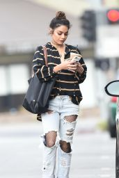 Vanessa Hudgens in Ripped Jeans - Getting Coffee in Los Angeles - 10/26/2016