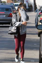Vanessa Hudgens in Tights - Leaving a Pilates Class in Studio City 10/11/2016