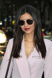 Victoria Justice - Arriving at The Chew in NYC 10/19/ 2016
