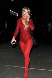 Vogue Williams - M Restaurant Halloween Fête Party 10/29/ 2016