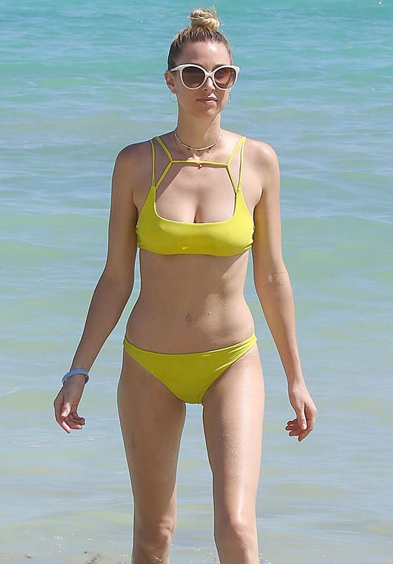 Whitney Port in Yellow Bikini - Cancun, October 2016