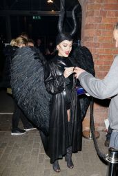 Zara Larsson Dressed As Maleficent For A Halloween Party In Liverpool 29/10/ 2016