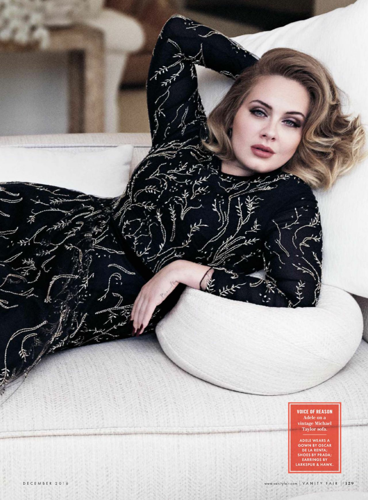 Adele - Vanity Fair Magazine USA December 2016 Issue and ...