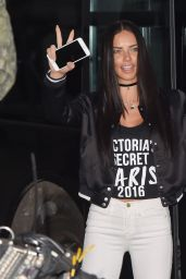 Adriana Lima – Arrives at the Grand Palais in Paris 11/28/ 2016