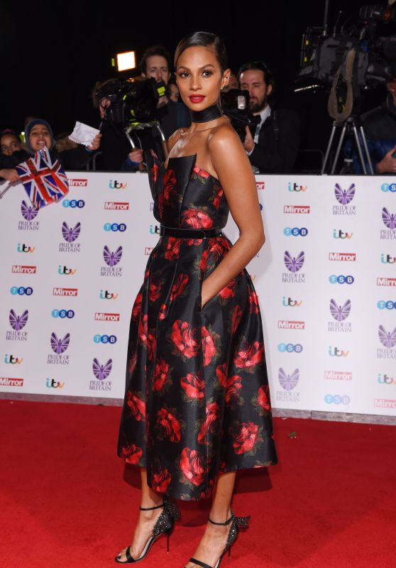 Alesha Dixon – Pride of Britain Awards at Grosvenor House, London 10/31/ 2016