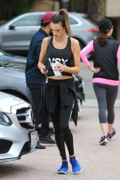 Alessandra Ambrosio - Hits the Spa After Her Workout in Los Angeles 11/26/ 2016