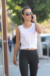 Alessandra Ambrosio in Tights - Out in LA 11/21/ 2016