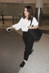 Alyssa Milano at LAX Airport in LA 11/13/ 2016