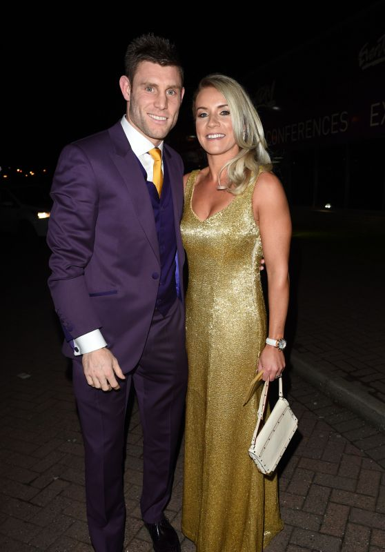 Amy Fletcher – James Milner Charity Ball at Event City in Manchester 11/27/ 2016