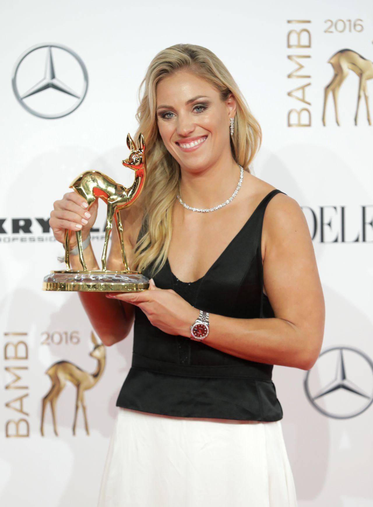 Angelique Kerber Bambi Media Awards 2016 In Berlin