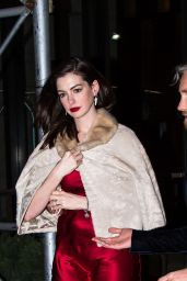 Anne Hathaway With Adam Shulman for a B