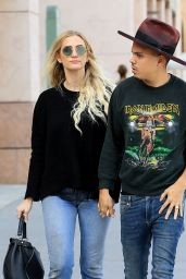 Ashlee Simpson Street Style - Out in Beverly Hills 11/28/ 2016