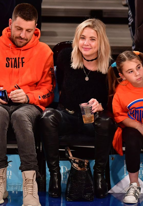 Ashley Benson at a New York Knicks Game in New York, November 2016