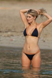 Ashley James in Bikini - Walks Along the Beach in Ibiza 11/14/ 2016