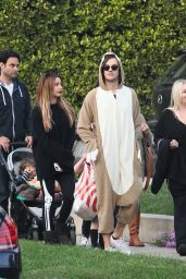 Ashley Tisdale with Christopher French at Trick or Treating on Halloween in Toluca Lake, CA 10/31/ 2016