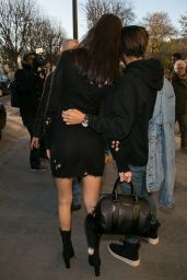 Bella Hadid - Arriving at the Grand Palais in Paris - 28/11/ 2016