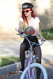Bella Thorne Bike Riding in Los Angeles 11/21/ 2016