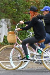 Bella Thorne - Bike Riding in Los Angeles 11/27/ 2016
