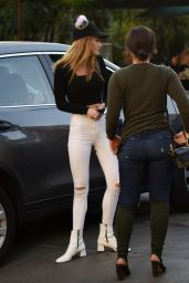 Bella Thorne in Tights at Urth Cafe in Los Angeles 11/13/ 2016