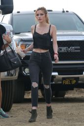Bella Thorne - On the Set of a Project in Los Angeles 11/12/ 2016