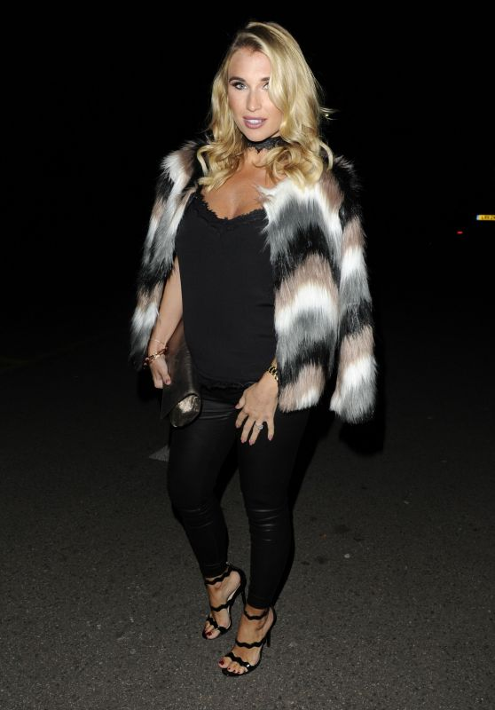 Billie Faiers Arrives at a Christmas Party in Essex 11/25/ 2016