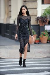 Chanel Iman Shows Off Her Eclectic Style - New York 11/16/ 2016
