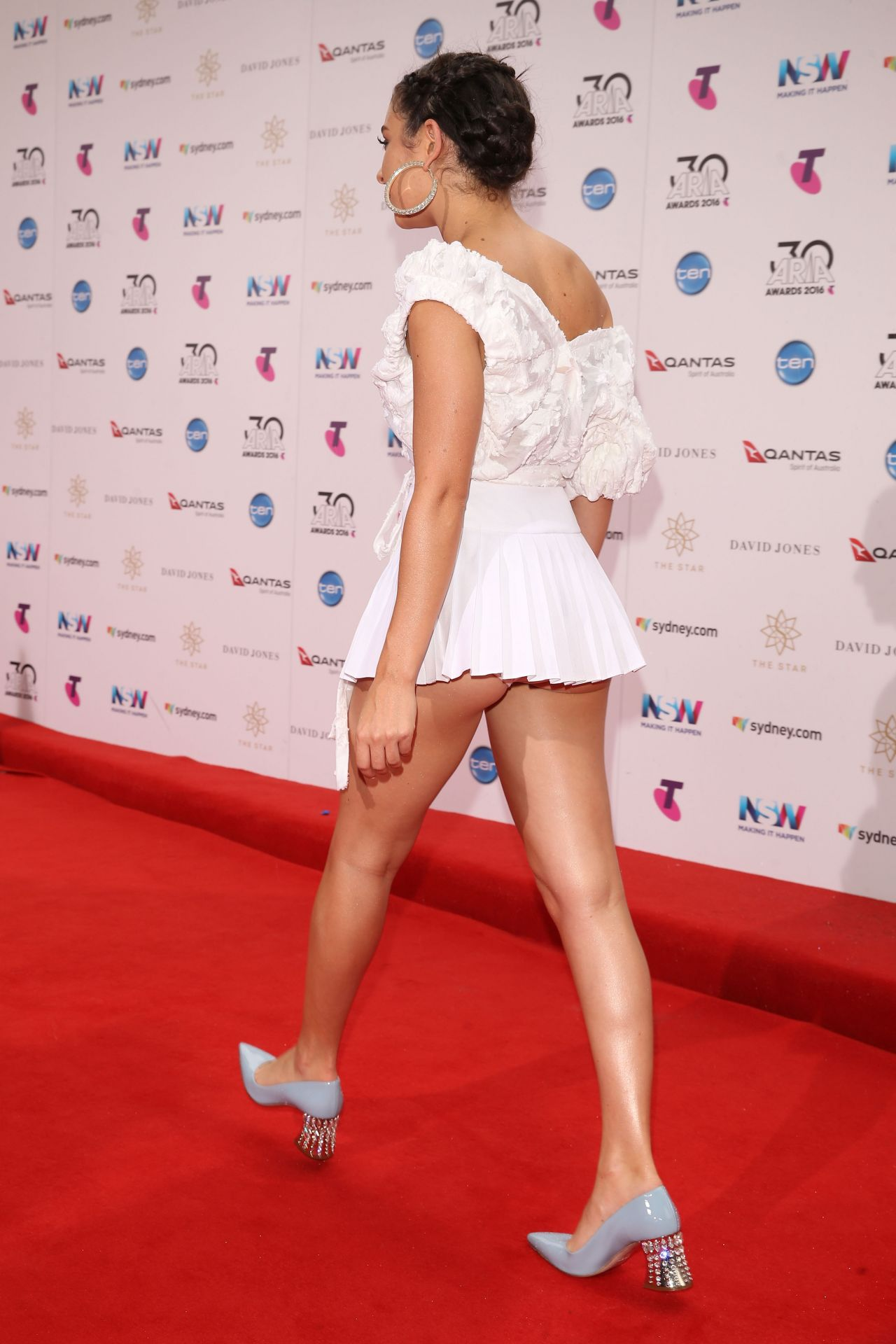 Charli XCX Ass Cheeks Upskirt At 30th Annual ARIA Awards In Sydney