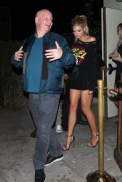 Charlotte McKinney Night Out - Outside Delilah Club With Jeff Ross in West Hollywood, November 2016